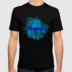 Friyay! SMALL Mens Fitted Tee Black
