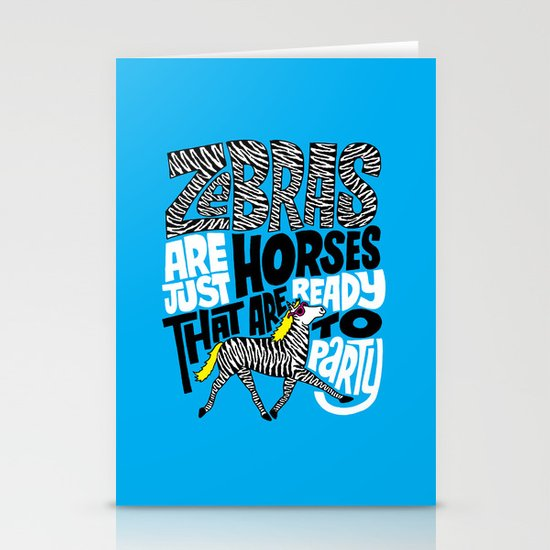 Party Horses Stationery Card