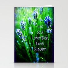 Sun Sea Lavender Love Sequim Stationery Cards