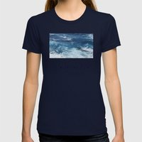 Oahu: Go With The Flow Womens Fitted Tee Navy SMALL