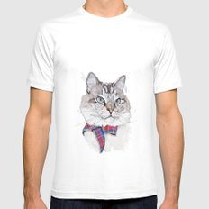 Mitzy White Mens Fitted Tee SMALL