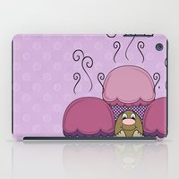 Cute Monster With Pink And Purple Frosted Cupcakes iPad Case