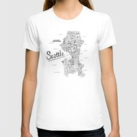 seattle T-shirts featuring Seattle by Claire Lordon
