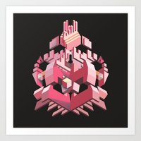 My Heart Is Made Of Lase… Art Print