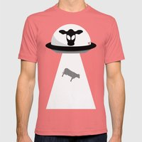 Space Cows Mens Fitted Tee Pomegranate SMALL