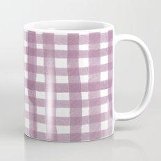 Gingham Plum Mug