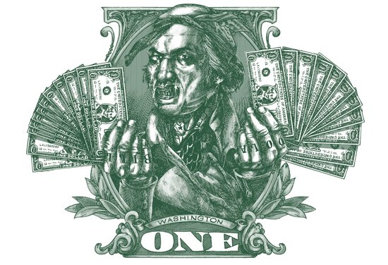 One Dolla Bill Art Print