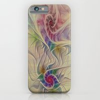 iPhone & iPod Case featuring Rainbow Spirals by Deborah Benoit