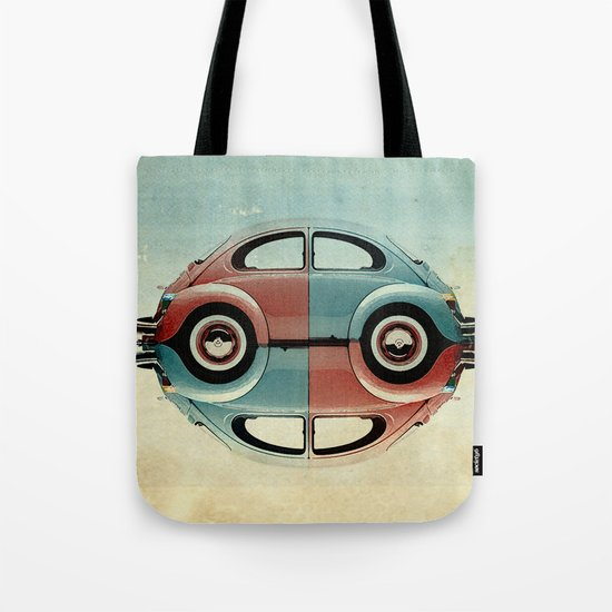 checkered 4 speed - VW beetle  Tote Bag