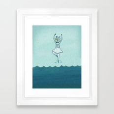 Lost at sea, doesn't bother me Framed Art Print