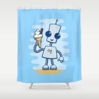 Ned's Ice Cream Shower Curtain