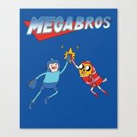 Mega Bros Canvas Print