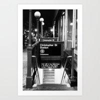 Christopher St. Station. West Village. New York, NY. 2014. Art Print
