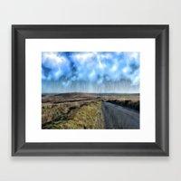 Just keeps raining Framed Art Print