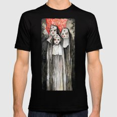 Nuns Black SMALL Mens Fitted Tee