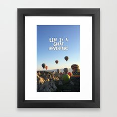 Balloon Adventure Framed Art Print