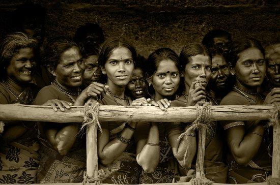 Hindu Pilgrims on New Year's Day Art Print