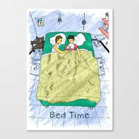 Bed time #2 Canvas Print