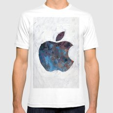 Painted Apple White SMALL Mens Fitted Tee