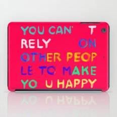 RELY / ABSOLUTELY HAPPY VERSION iPad Case