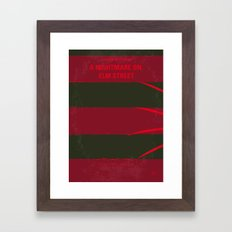 No265 My NIGHTMARE ON ELMSTREET minimal movie poster Framed Art Print