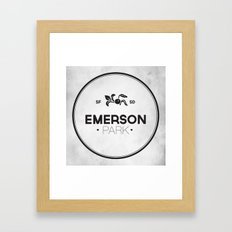 Emerson Park Framed Art Print
