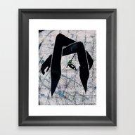 Falling In My Own Fake H… Framed Art Print