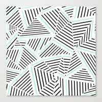 Ab Linear Zoom With Mint Canvas Print