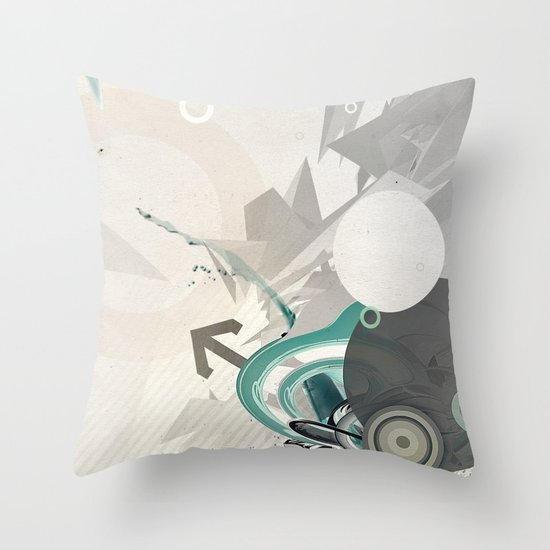ASCEND (version zero) Throw Pillow