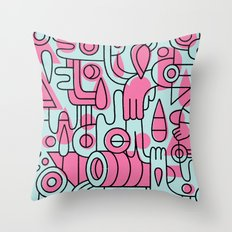 Hahahaohhoho Throw Pillow
