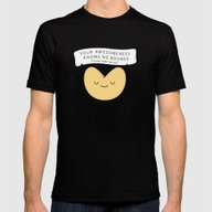 Fortune Cookie Mens Fitted Tee Black SMALL
