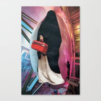 On The Way To Work Canvas Print