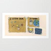 Sistema Solar  School Wo… Art Print