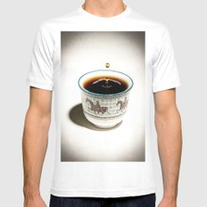 Tea White Mens Fitted Tee SMALL