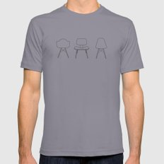 Eames Chairs Mens Fitted Tee Slate SMALL