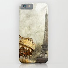 The Carousel and the Eiffel Tower - Paris iPhone 6 Slim Case