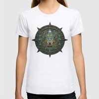 Stone of the Sun II. Womens Fitted Tee Ash Grey SMALL