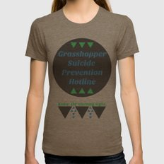 Grasshopper Suicide Prevention  Womens Fitted Tee Tri-Coffee SMALL