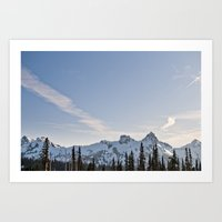 Mountain Ridge in the Sun Art Print