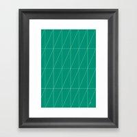 Emerald Triangles By Fri… Framed Art Print