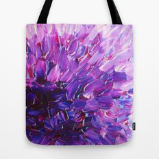LOTUS BLOSSUM - Beautiful Purple Floral Abstract, Modern Decor in Eggplant Plum Lavender Lilac Tote Bag
