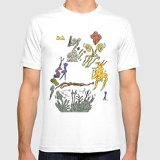 ^&^&^&^ Mens Fitted Tee White SMALL