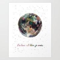 La Lune Est Libre Art Print
