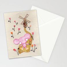 A Mouse With Clogs On, By A Windmill Stationery Cards