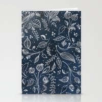 Metallic Floral Stationery Cards
