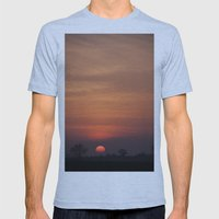 Sunset over Norfolk Mens Fitted Tee Athletic Blue SMALL