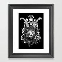 Goat 'em All Framed Art Print