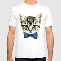Un Petit Chaton Mens Fitted Tee White SMALL
