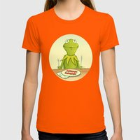 Kermit Loves Facon Womens Fitted Tee Orange SMALL