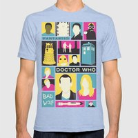 Doctor Who - The Ninth Doctor Mens Fitted Tee Tri-Blue SMALL